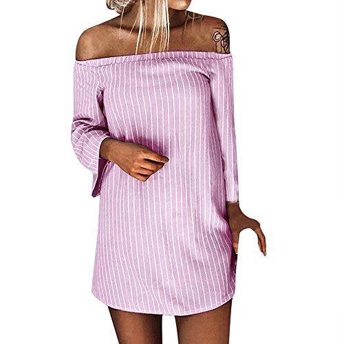 Resplend Damen Herbst Winter Dress Langärmliges Kleid Pullover -