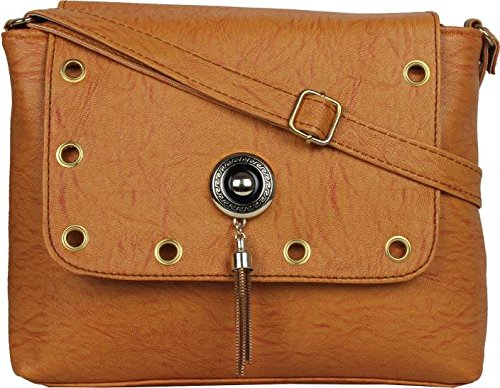 Typify Women & Girls Casual College Office Stylish Latest Sling Cross Body Bags (Mustard)