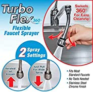 TURBO FLEX SWIVELS 360 DEGREE EASY CLEANING FLEXIBLE FAUCET SPRAYER