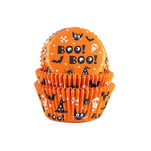 50 Muffinförmchen Halloween | Boo | Scary | mit Halloween Motiven