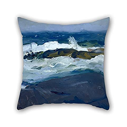 Artistdecor Oil Painting George Bellows - Rock Reef, Maine Pillowcase ,best For Home Office,gf,coffee House,bench,girls,floor 18 X 18 Inches / 45 By 45 Cm(twice
