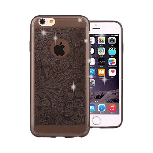 Handyhülle Paisley Mandala Glitzer Motiv Case für Pink Apple IPhone 5/5S Grau