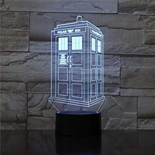 CYJQT 3D Nachtlichter Kinder Emotion Lichter Led Nachtlichter British Police Box Tardis Kinder Nachtlichter Schlafzimmer Dekor Telefonzelle Telefonzelle Licht Ärzte Wer