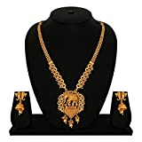 #10: Gold Touch Bahubali Elephant Indian Traditional Necklace Set for Women and Girls