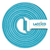 LACCICO Finest Waxed Laces Durchmesser 2 mm Runde Dünne Elegante Gewachste Schnürsenkel Länge: 90 cm Farbe: Türkis