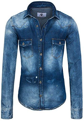Rock Creek - Camisa Casual - con Botones - Clásico - para Hombre...
