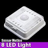 Auto 8 LED PIR sensor de movimiento Detector infrarrojo inalámbrico de interior.