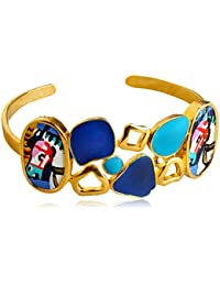 Miranika Gold Plated Cuff for Women (Multi-Colour)(C1D3CDG)