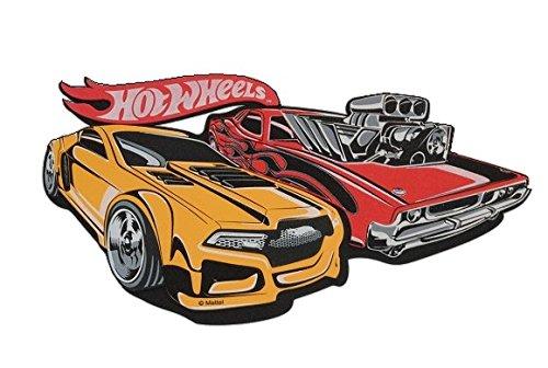 3-d-wandtattoo-xl-hot-wheels-auto-rot-gelb-moosgummi-kind-kinder-junge-hotwheels