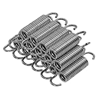 Upper Bounce Heavy-Duty Galvanized Trampoline Springs (Pack of 15) - Metal, 7-Inch  - Springs Measure from End to End