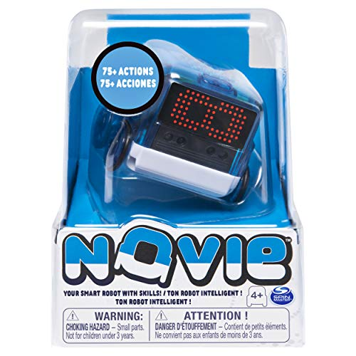Novie 6054106 Interactive Smart with Over Actions Learns (Blue), for Kids Aged 4 and Up Interaktiver intelligenter Roboter mit über 75 Aktionen und Lernen, 12 Tricks (blau), für Kinder ab 4 Jahren