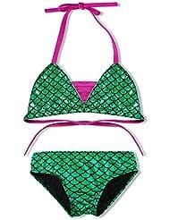 2 Pcs Charming Girls Bling Bling Fish Scales Mermaid Swimwear Bikini Tankinis