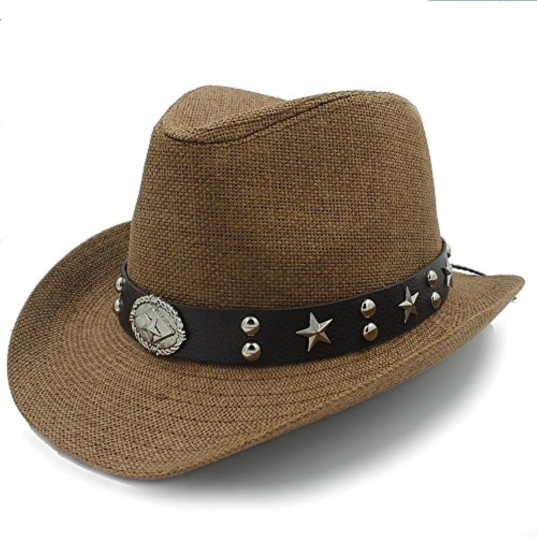 BAOJU Home Cappello - Cappello da Western Cow Hat Sombrero Cow Western da  Sombrero di Paglia da Donna Parent ba99f3 52e94ad15112