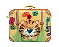 Super cute 3D molded tiger design;Water repellent lightweight soft shell does not contain BPA, PVC, AZO, and Phthalates;Removable and adjustable shoulder strap;15.5x11.5x4.75 inch storage area features practical mesh pocket with elastic lugga...