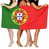 NFHRRE Beach Towel Flag of Portugal 80' X 130' Soft Lightweight Absorbent For Bath Swimming Pool Yoga Pilates Picnic Blanket Towels