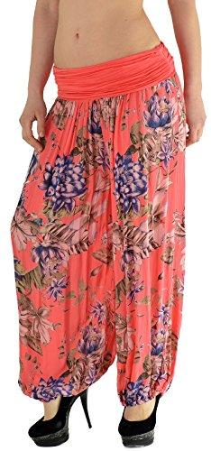 Pantalon Sarouel pour Femme Pantalon Pump Femme Pantalons Harem pour Dames Pantalon de Yoga S12 S16-couleur corail