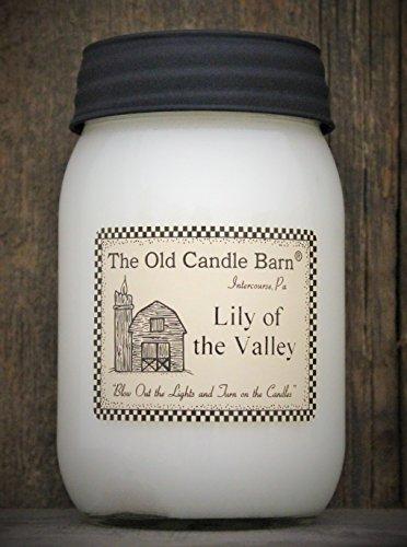 Old Candle Barn Lily of the Valley 16Oz Jar Kerze-Made in die USA-Blow Out und Drehen Licht auf die Kerzen. (In Kerzen Made Usa)