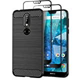 Teayoha Case for Nokia 7.1, with Tempered Glass Screen