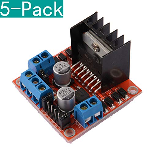 Youmile 5-Pack Dual H-Brücke DC-Schrittmotor-Controller-Modul L298N für Arduino -