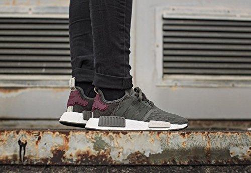 adidas Nmd R1, Sneaker Bas du Cou Femme gris olive