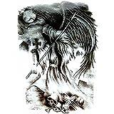 Generic Unisex Temporary 3D Reaper Sticker Tattoo, 21x15cm (Black) - 1 Piece