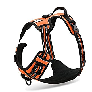 Chai's Choice Best Outdoor Adventure Dog Harness. 3M Reflective Vest . Caution - Please Measure Dog Before Ordering… 12