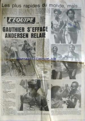 EQUIPE (L') [No 11553] du 05/07/1983 - LES PLUS RAPIDE DU MONDE - COLORADO SPRINGS - GAUTHIER - ANDERSEN - CYCLISME - AUTO - GOLF GTI - AVIRON - A DUISBOURG - TENNIS - MCENROE - ARGENT POUR LEMENAGE.