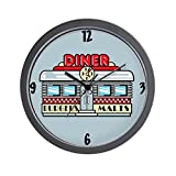 "CafePress - 1950's Retro Diner Wall Clock - Unique Decorative 10"" Wall Clock"