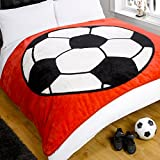 Dreamscene Luxuriöse Überwurf Decke Fußball, Rot Decke Tagesdecke