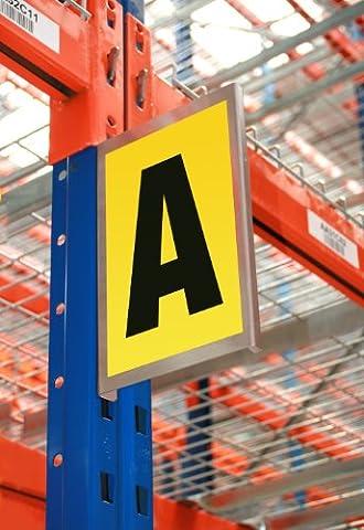 Self-Adhesive Bay Marker - Aluminium Aisle Sign - 260mm x 167mm - Accommodates 1 Character