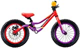S'COOL Kinder pedeX Dirt Lernlaufrad, Violett/Red Matt, 14 Zoll