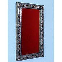 Espejo oriental para pared pared espejo decoración de metal