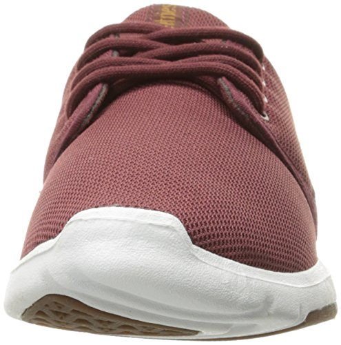 Etnies Scout W's, Chaussures de Skateboard Femme Rouge - Rot (BURGUNDY/TAN/WHITE / 612)