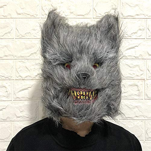 Panda Gesicht Kostüm - VAWAA Halloween Beängstigend Horror Blutige Tier Gesicht Muster Maske Bär Panda Kaninchen Wolf Kostüm Horror Latex Party Maske Erwachsene