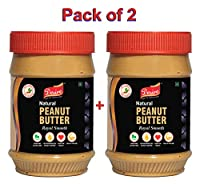Desire Natural Peanut Butter - Unsweetened - 1 Kg - Pack of 2 (All Natural - Non-GMO, Gluten Free, Vegan)