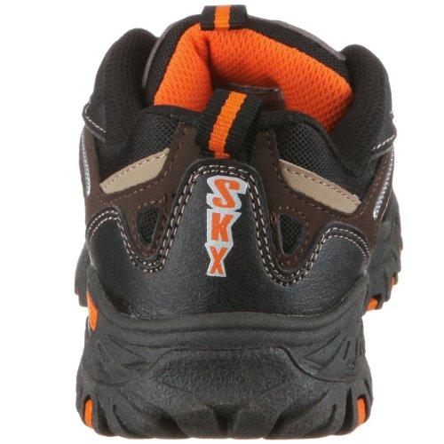 Skechers Apache Blue Heron 91030L CCGD, Baskets mode garçon Noir/Orange