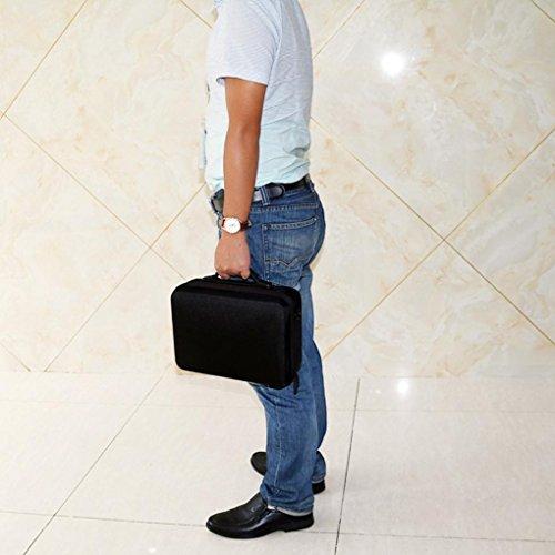 Fulltime® PC + ABS Hardshell Wasserdichte Tragetasche Suitcase Umhängetasche für DJI Mavic Pro RC Quadcopter, 29 x 21 x 11cm, Schwarz (Schwarz) - 7