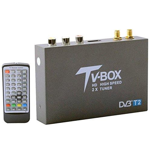 DVB-T2HD High Speed Double Antenne Mobile Digital Auto TV Receiver, unterstützt H.264/MPEG2/MPEG4/120KM/Stunde Mpeg4 Audio