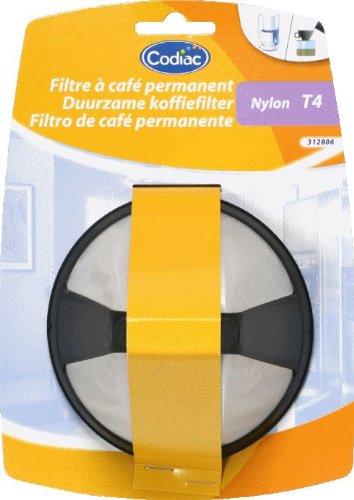 Codiac Kaffeefilter, Kaffeebereiter, Kaffeedauerfilter, Handfilter, T4, mittel, Nylon