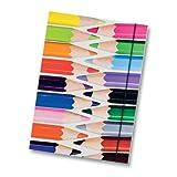 folia Sammelmappe aus 500g/m² GD2, DIN A3, mit Gummiband, Motiv Buntstifte, mehrfarbig (1 Stück)