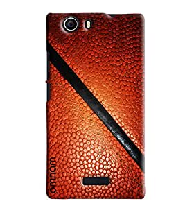 Omnam Brown Leather Printed Pattern Printed Designer Back Cover Case For Micromax Nitro E311
