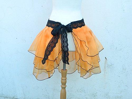 Rock Bustle Skirt Schleppe Wickelrock Organza Gothic Steampunk