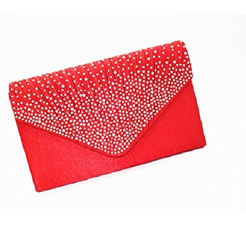 Ledyoung , Pochette pour femme rouge