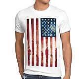 style3 Blood and Tears, Stars and Stripes Herren T-Shirt usa Flagge Banner vereinigte Staaten von Amerika us, Größe:L