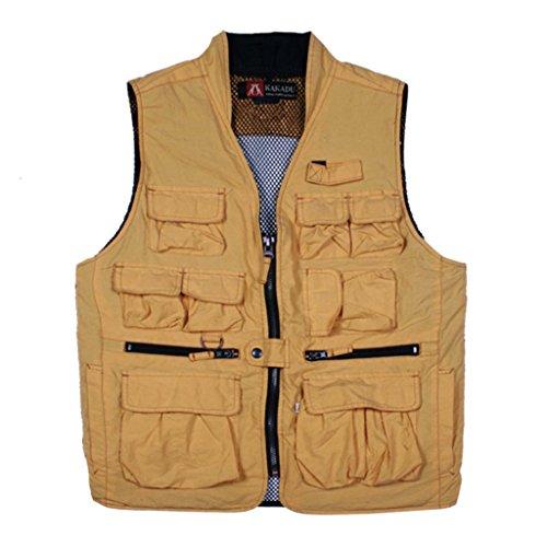 Kakadu Traders Australia - Manteau sans manche - Homme moutarde
