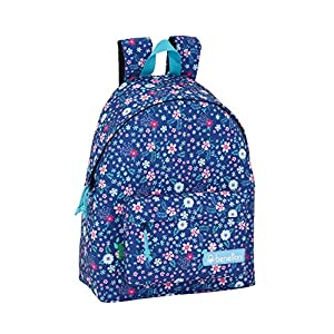 51QtqQlUJwL. SS300  - Day Pack Infantil Benetton UCB In Bloom Blue Oficial 330x150x420mm
