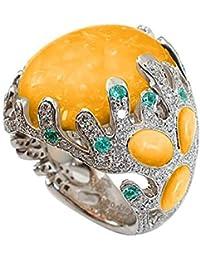 ae2c92986e0f YJIUJIU Anillo Deslumbrante De La Piedra Preciosa del Ópalo Natural 925  Joyas De La Boda De
