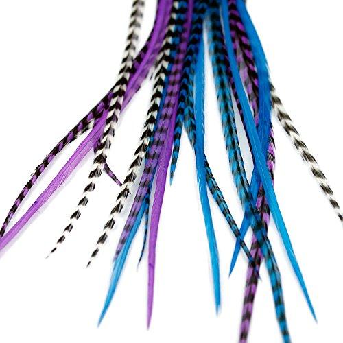 Extensions de cheveux en plumes – Clair de Lune