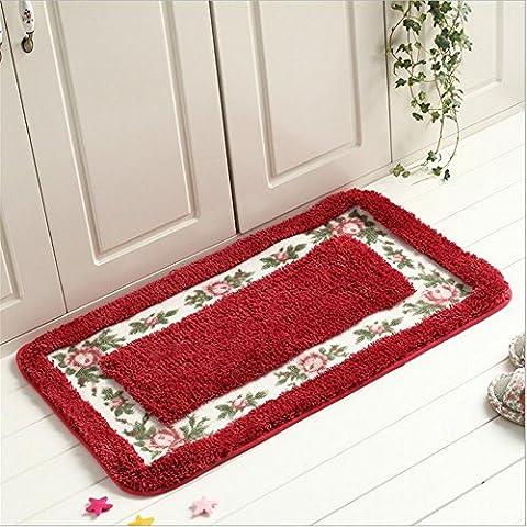 LUN Alfombras de baño alfombra antideslizante microfibra baño ducha alfombras , red , 45 * 120cm