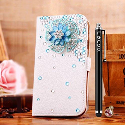 Locaa(TM) Pour Apple IPhone 7 IPhone7 (4.7 inch) 3D Bling Case Coque 3 IN 1 étuis Cuir Qualité Housse Chocs Étui Couverture Protection Cover Shell Phone Amour Love [Générale 1] paon Rose Bleue